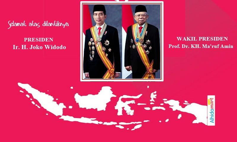 Selamat Untuk Presiden Jokowi KH Maruf Amin ALHIDAMART