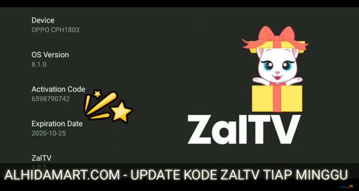 Kode Zaltv 2020 ALHIDAMART